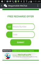 WeChat Free load redeem