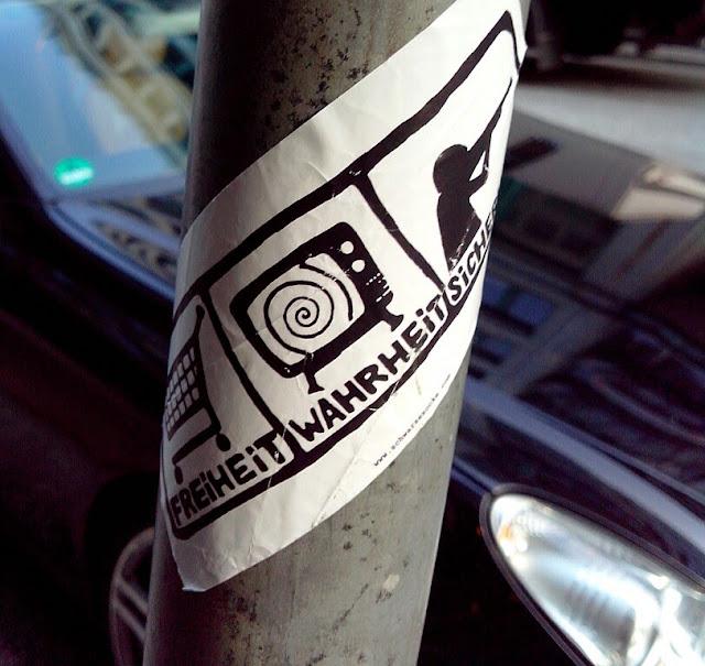 freiheit wahrheit sicherheit street art Aufkleber