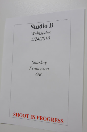 Studio B was reserved just for us.  We really felt like celebrities!