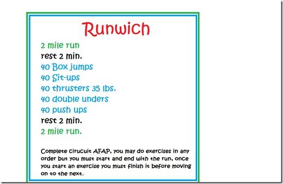 Runwich