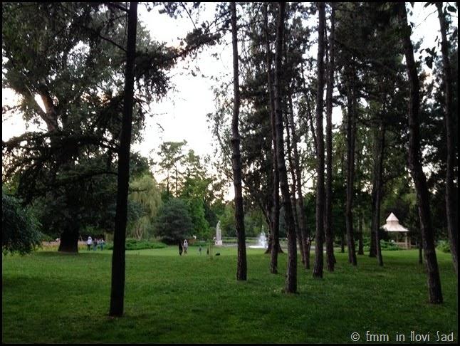 Dunavska Park at Dusk, Novi Sad