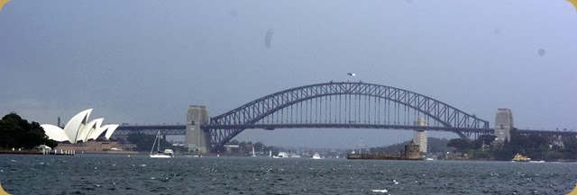 IFR - Tall Ships entering Sydney Harbour - Opera House and Bridge