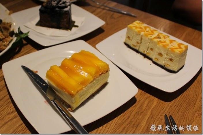 台北-溫德德式烘培餐館(內湖店)。芒果蛋糕與芒果圍牆。