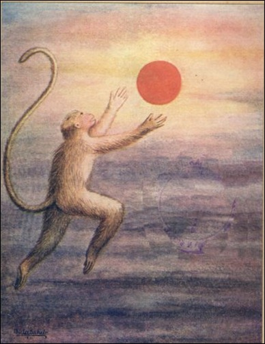 Hanuman Mistakes the Sun for a Fruit