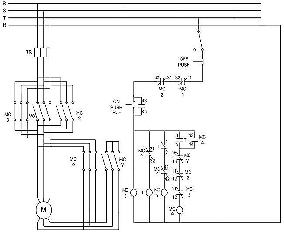 Circuit diagram for delta state