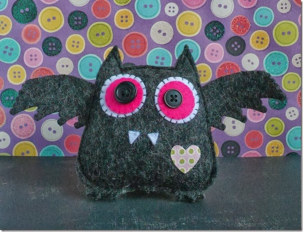 cafe creativo - Anna Drai - sizzix big shot - owl bat halloween felt (2)