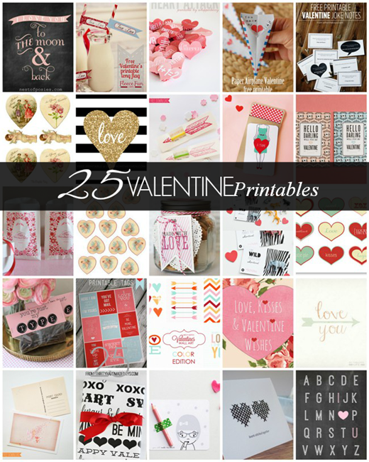 25 Gorgeous Valentine Printables featured on homework | carolynshomework.com