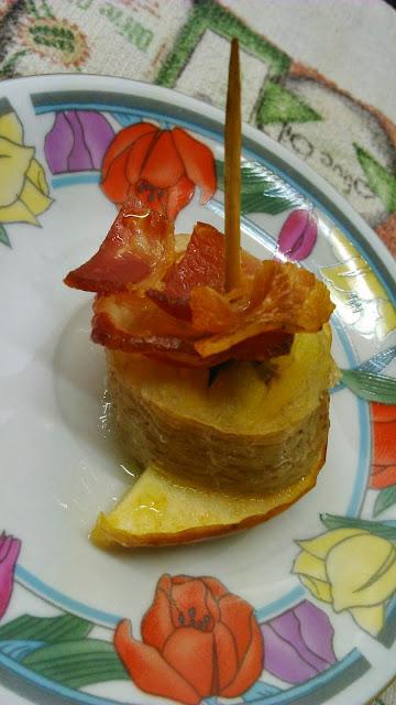 Pincho De Plátano, Manzana Y Bacon