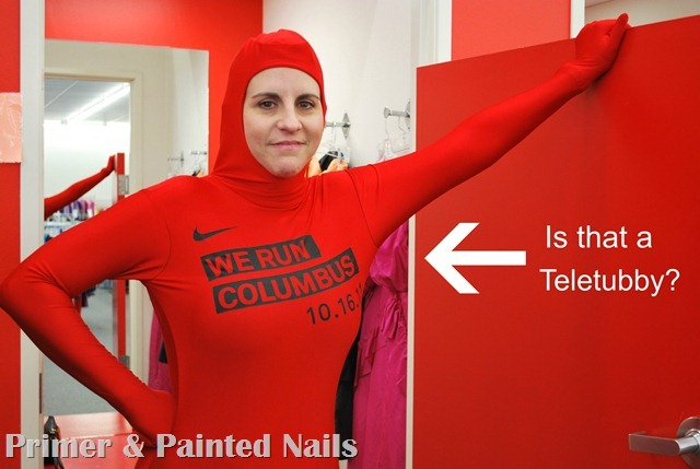 Red Jumpsuit or Teletubby - Primer &amp; Painted Nails