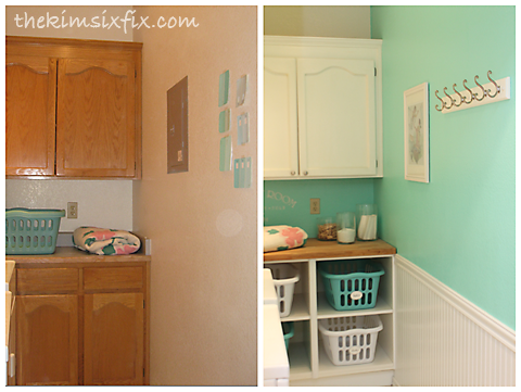 Laundry room cubbies