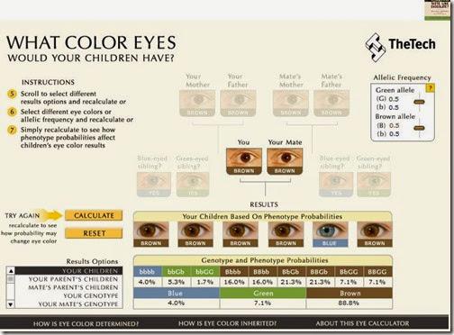 color de los ojos de tu bebe