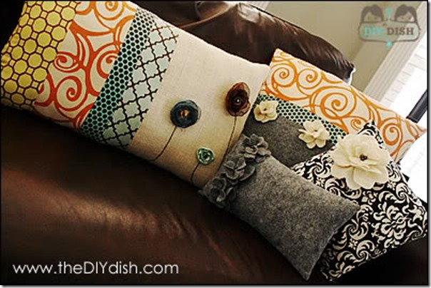 Making Decorative Pillows Ideas : The Best, Easy DIY Pillows for Autumn ? Home Decor Ideas - Setting for Four