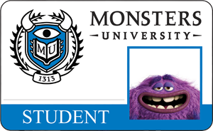 Art Monsters University Student Identification Card