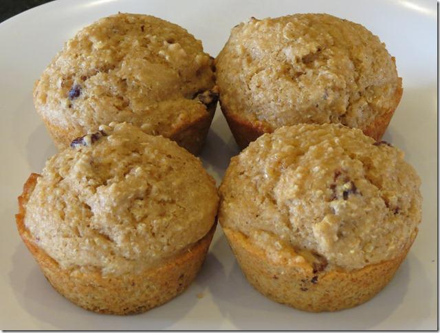 Cranberry Pecan Quinoa Muffins 1-28-13