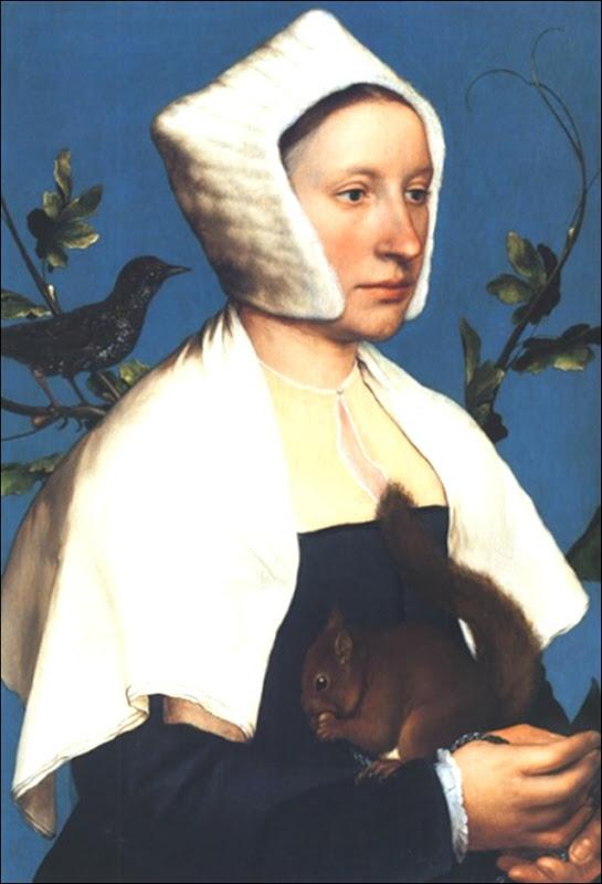 Hans Holbein, Portrait de jeune femme avec écureuil 1526
