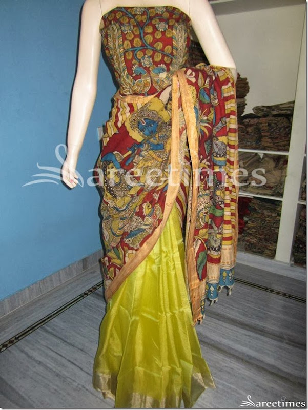 Embellished_Kalamkari_Work_Saree(2)