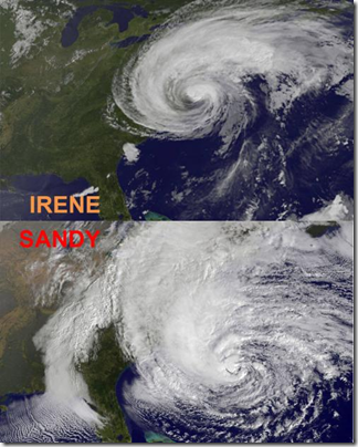 Sandy vs Irene