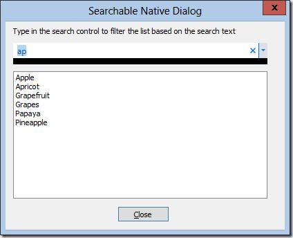 SearchControlNativeDialog