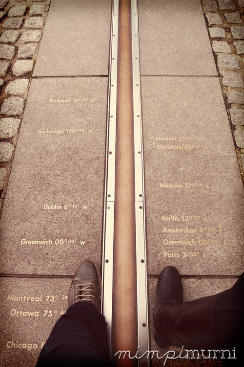 Us at the Greenwich Meridian Line.