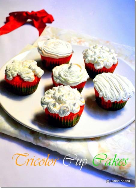 Tricolor Vanilla Pandan cupcakes recipes