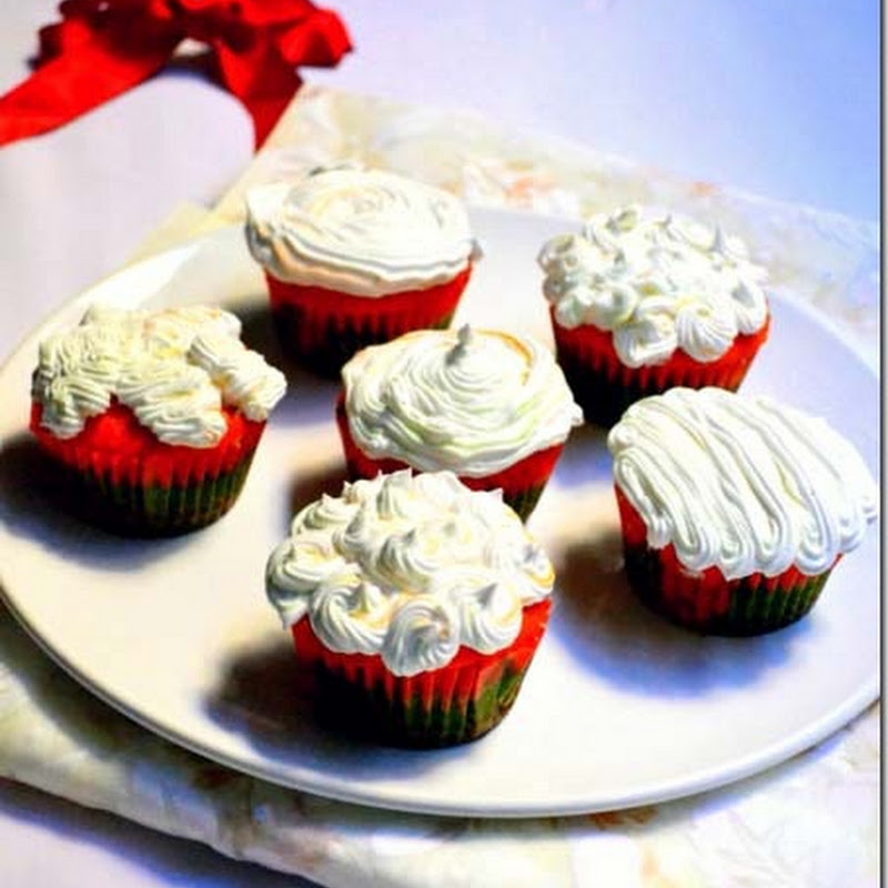 Tricolor Cupcakes with Cream Frosting| Independence Day Recipes