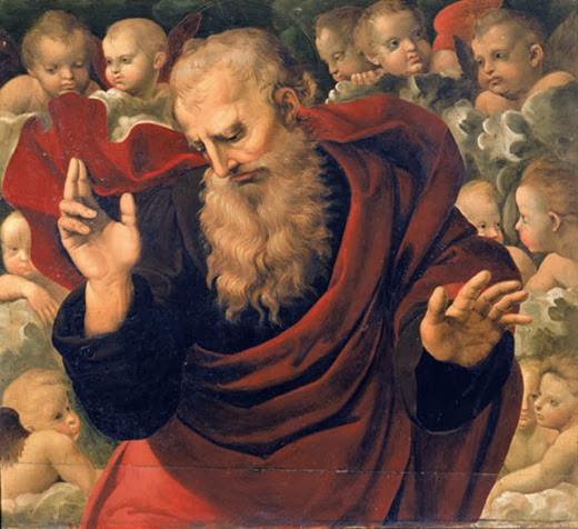 Dios Padre bendiciendo 1507 Pala Baglioni