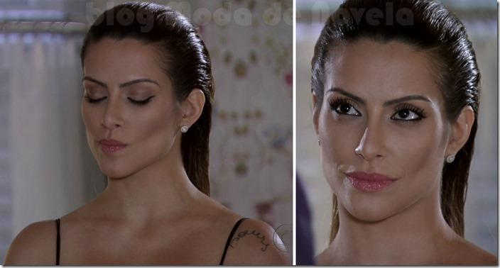 moda da novela salve jorge - maquiagem da bianca na recepção da dona leonor capítulo 14 de fevereiro de 2013