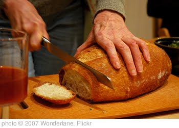 'Breaking bread, juice, dinner party, Broadview townhouse, Seattle, Washington, USA' photo (c) 2007, Wonderlane - license: http://creativecommons.org/licenses/by/2.0/