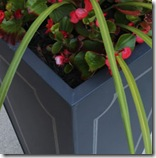 black metal planter with design1