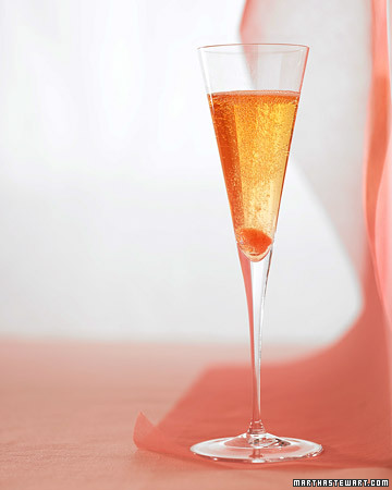 Classic Champagne Cocktail: You can never go wrong when serving this classic Champagne cocktail at a party.