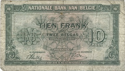 Belgian Fran 2 1944-45