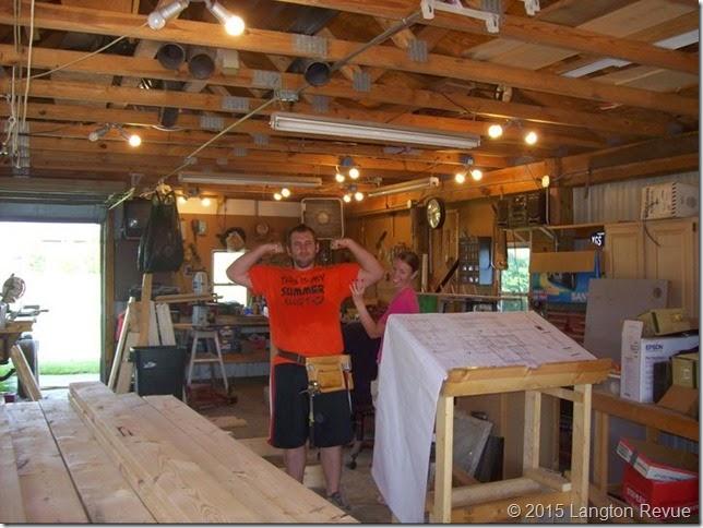 Andy em building house