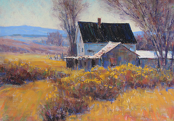 Prairie Homestead Pastel 14x18