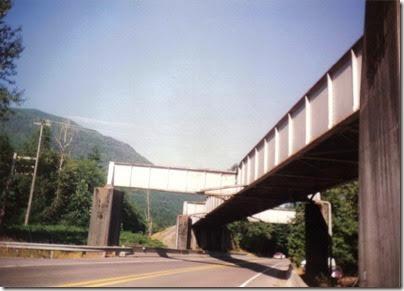 Railroad Bridge over Highway 2 between Gold Bar & Index, Washington in 1994