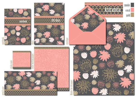 delicious stationery collection astrantia