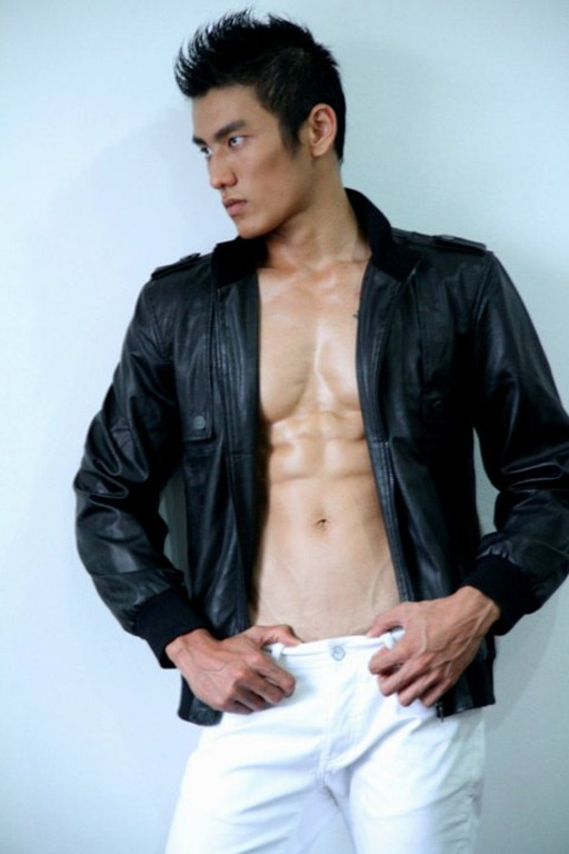 Asianmales-Little Shirtless Sexy with Unknown Male Model-12