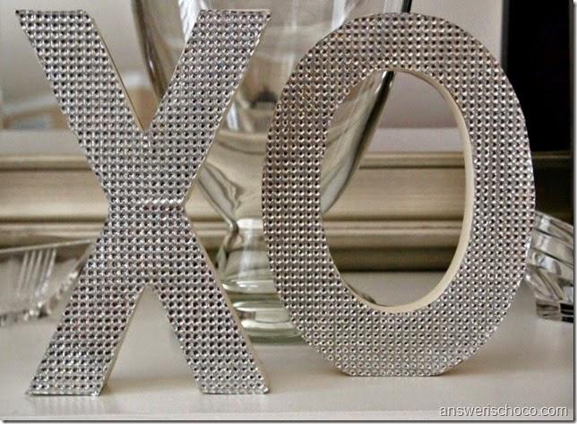DCWV Bling XO Letters