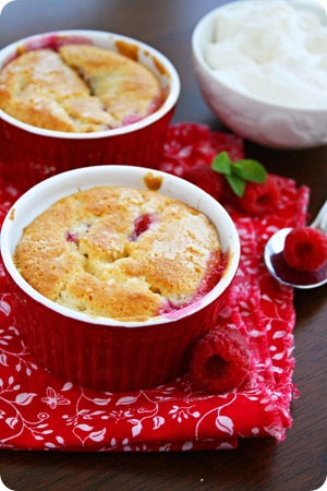 Individual Raspberry Cobblers