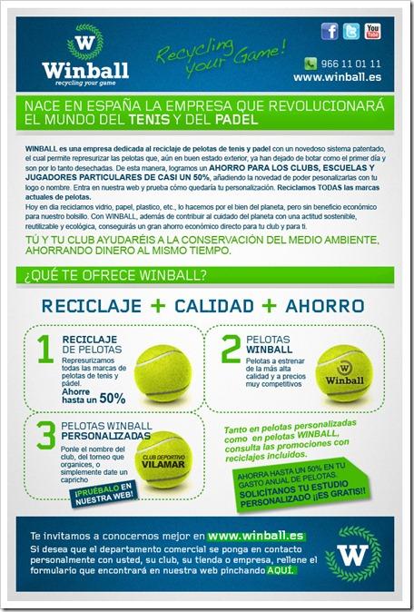 WINBALL un proyecto para todos. Reciclaje y personalización de pelotas de tenis y pádel., en españa.