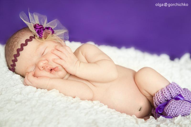Фотосессия новорожденной в Гродно. Ксюша 2 недели_-11
