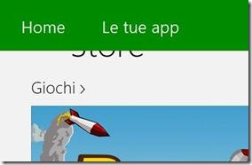 Windows 8 Store opzione Le tue app