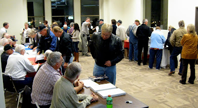A steady stream of people attended the book-signing over a three hour period at the Washington Public Library