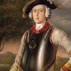 Карл Фридрих Иероним фон Мюнхгаузен (в мундире кирасира). Г. Брукнер, 1752