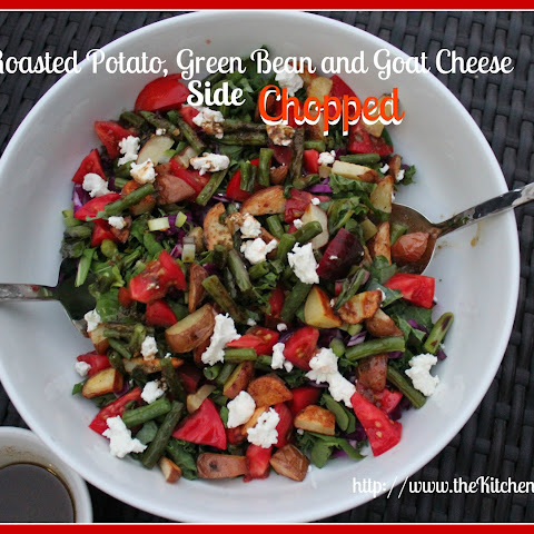 Roasted Potato, Green Bean and Goat Cheese Side Chopped