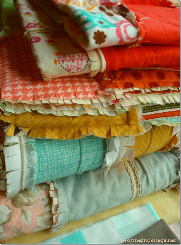 {Northern Cottage} stack of quilts