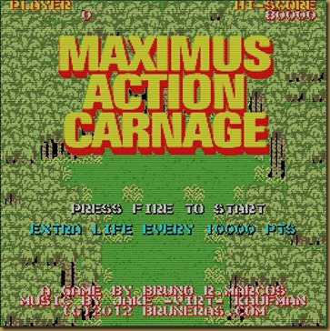 MAXIMUS ACTION CARNAGE タイトル