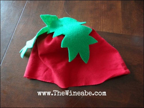 tomato hat DIY costume