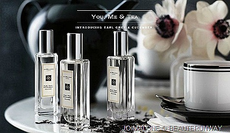 JO MALONE EARL GREY & CUCUMBER COLOGNE FRAGRANCE TEA BLEND SCENT LIMITED EDITION COLLECTION Assam and Grapefruit, Fresh Mint Leaf, Sweet Lemon Milk Bergamot,  cucumber sweet Beeswax, vanilla  musk blend 100ml 30ml spray