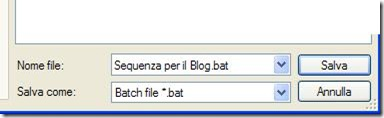 AutoStarter X3 creare e salvare il file bat