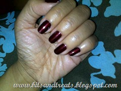 deep red opi polish, bitsandtreats